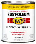 Rust-Oleum 7747-502 Qt. Sunburst Yellow Rust Enamel
