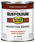 Rust-Oleum 7762-502 Qt. Sunrise Red Stops Rust Enamel