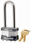 Master Lock 1KALJ 1-3/4 Inch Laminated Padlock With 2-1/2 Inch Long Shackle