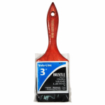 Linzer/American Brush 1610-3 Paint Brush, Black Chinese Bristle, 3-In.