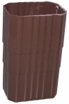 Genova Products AB203 Duraspout Gutter Coupler, Brown Vinyl, 2 x 3-In.