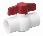 B&K VBVP40B8B Threaded Ball Valve, White PVC, 2-In.