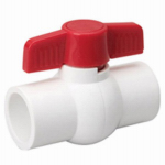 B & K/Mueller Inds(Import) 107-634 Solvent Ball Valve, White PVC, 3/4-In.
