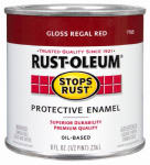 Rust-Oleum 7765-730 1/2-Pint Gloss Regal Red Stops Rust Enamel