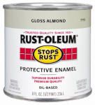 Rust-Oleum 7770-730 1/2-Pint Gloss Almond Stops Rust Enamel