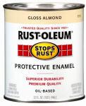Rust-Oleum 7770-502 Qt. Gloss Almond Stops Rust Enamel