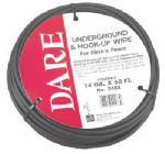 Dare Products 2488 Underground & Hook-Up Wire For Electric Fence, Polyethylene Over Steel, 20,000-Volt, 50-Ft.