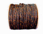 Wellington Cordage 13317 Twisted Poly Truck Rope, Black/Orange, 3/8-In. x 600-Ft.