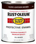 Rust-Oleum 7775-730 1/2-Pint Gloss Leather Brown Rust Enamel