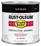 Rust-Oleum 7776-730 1/2-Pint Flat Black Stops Rust Enamel