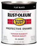 Rust-Oleum 7776-502 Qt. Flat Black Stops Rust Enamel