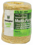 Wellington Cordage 43887 400-Ft. 1-Ply Natural Sisal Twine - Must Order in Quantities of 6