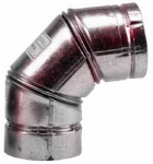 Selkirk 243231 VP Pellet Pipe 3-Inch, 90 Degree Elbow