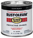 Rust-Oleum 7779-730 1/2-Pint Gloss Black Stops Rust Enamel