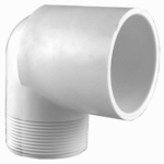 Genova Products 32805 Street Elbow, 90-Degree, Male Thread x Slip, White, 1/2-In.