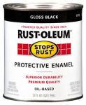 Rust-Oleum 7779-504 Qt. Gloss Black Stops Rust Enamel