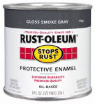 Rust-Oleum 7786-730 1/2-Pint Gloss Smoke Gray Stops Rust Enamel