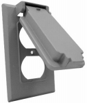 Hubbell Electrical Products 1C-DV Outlet Flip Cover, Single-Gang, Vertical, Weatherproof, Gray