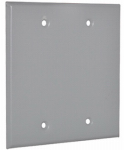 Hubbell Electrical Products 2BC Gray Weatherproof 2-Gang Blank Cover