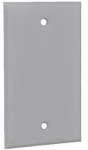 Hubbell Electrical Products 1BC Gray Weatherproof 1-Gang Rectangular Blank Cover