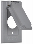 Hubbell Electrical Products 1C-SV Gray Weatherproof Single Gang Vertical Flip Cover