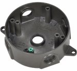 Hubbell Electrical Products BRD-4-BR Bronze Weatherproof Round Outlet Box