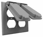 Hubbell Electrical Products 2C-2D Gray Weatherproof Double Gang Flip Cover