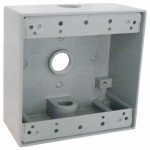 Hubbell Electrical Products TGB50-3 Gray Weatherproof 2-Gang Outlet Box