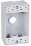 Hubbell Electrical Products FSB50-3-W White Weatherproof 1-Gang Rectangular Outlet Box