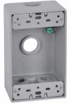 Hubbell Electrical Products FSB50-4 Gray Weatherproof 1-Gang Rectangular Outlet Box
