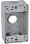 Hubbell Electrical Products FSB75-3 Gray Weatherproof 1-Gang Rectangular Outlet Box
