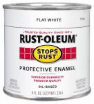 Rust-Oleum 7790-730 1/2-Pint Flat White Stops Rust Enamel
