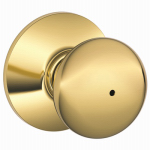 Schlage Lock F40V PLY 605 Bright Brass Privacy Lockset