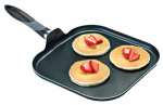 T-Fal/Wearever A7971384 Get-A-Grip Griddle, Non-Stick, Black, 11-In.