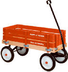 Radio Flyer 24 Town & Country Wood Stake Wagon