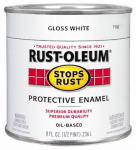 Rust-Oleum 7792-730 1/2-Pint White Gloss Stops Rust Enamel