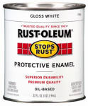 Rust-Oleum 7792-504 Qt. White Gloss Stops Rust Enamel