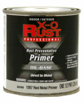 True Value Mfg 1267-HP Metal Primer, Oil-Base, Interior/Exterior, Red, .5-Pt.