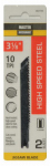 Disston 363150 2-Pack 3-1/8-Inch 10-TPI High-Speed Steel Metal-Cutting Jigsaw Blade