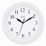 La Crosse Technology 25201 Wall Clock, White, 10-In. Round