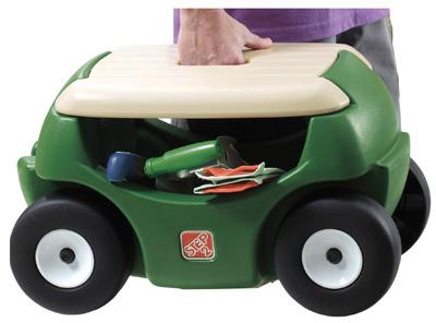 step 2 garden hopper wheeled seat cart w storage 5a0000 ebay