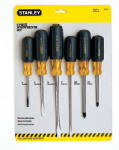 Stanley Consumer Tools 66-565 Screwdriver Set, Vinyl-Coated, 6-Pc.