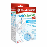 Fluidmaster 8100P8 Flush 'N Sparkle Blue Toilet Bowl Cleaning System