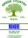 Green Country Soil M40 40LB Comp Cow Manure