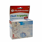 Fluidmaster 8102P8 Flush 'N Sparkle Blue Toilet Bowl Cleaning System - 2 Refill Cartridges