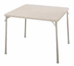 Cosco 14-619-ANT2 34x34-Inch Square Cream/Sand Folding Table