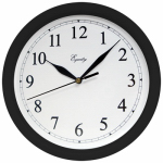 La Crosse Technology 25203 Wall Clock, Black, 10-In. Round