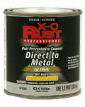 True Value Mfg XO4-HP Anti-Rust Oil-Base Enamel, Yellow Gloss, 1/2-Pt.