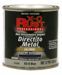True Value Mfg XO8-HP Anti-Rust Oil-Base Enamel, Blue Gloss, 1/2-Pt.