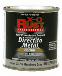 True Value Mfg XO15-HP Anti-Rust Oil-Base Enamel, Machinery Gray Gloss, 1/2-Pt.